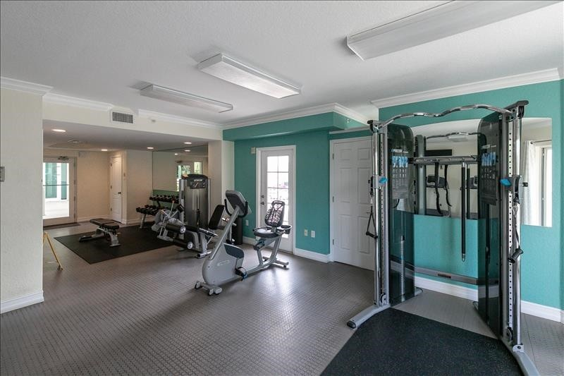onsite fitness center for guests use
