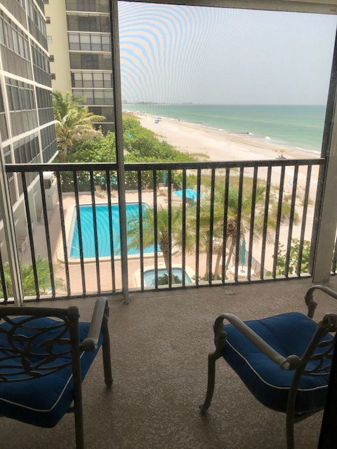 pool view from condo