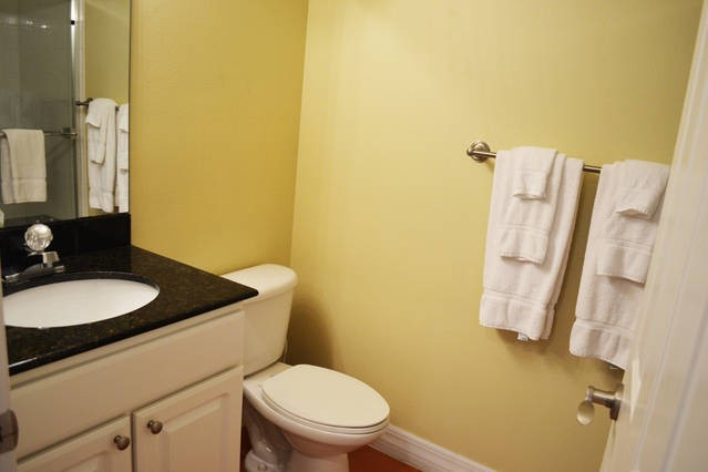 guest hall bath with a shower stall