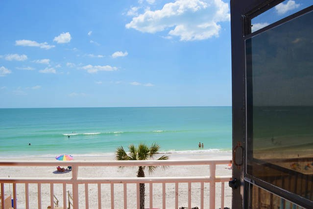 Gorgeous beach view right outside your door!